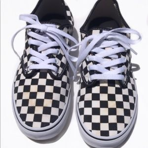 Black + white checkered vans